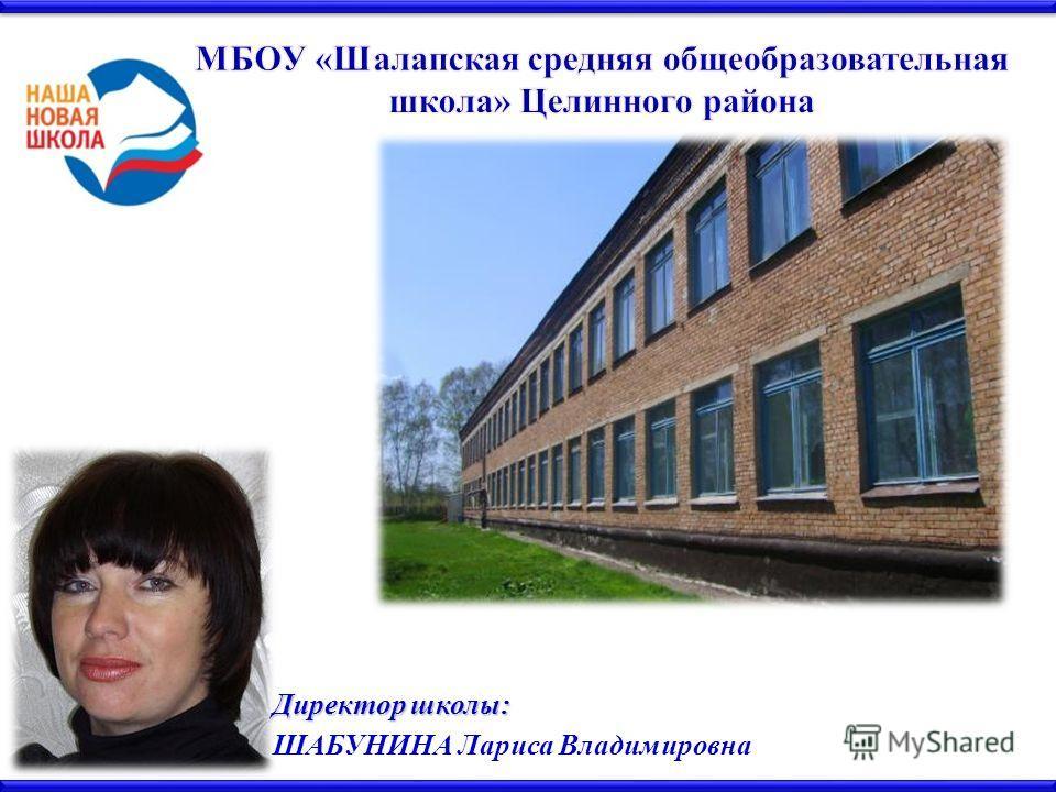 Директор школы: ШАБУНИНА Лариса Владимировна