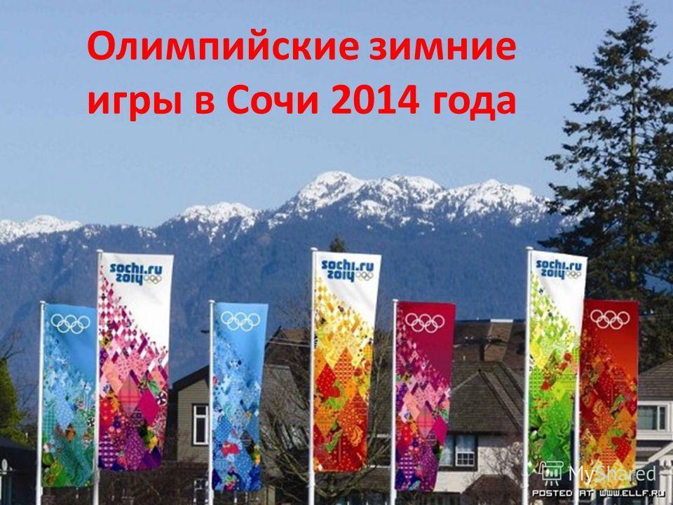 Олимпийские зимние игры в Сочи 2014 года