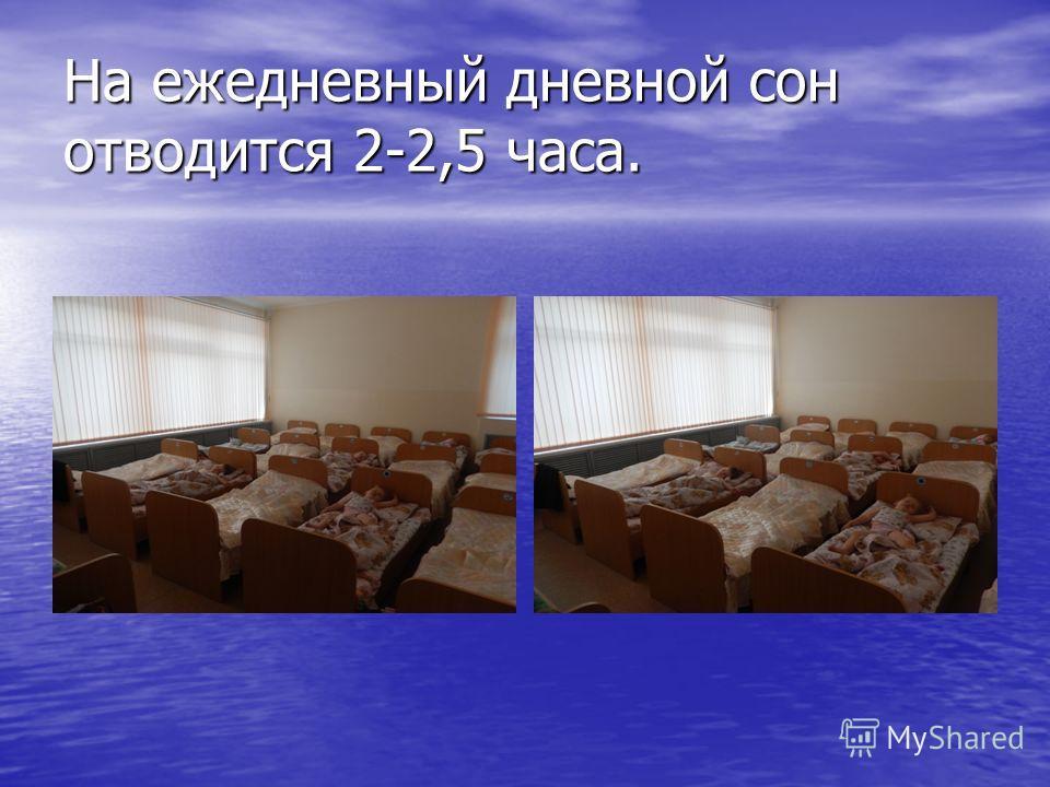 На ежедневный дневной сон отводится 2-2,5 часа.