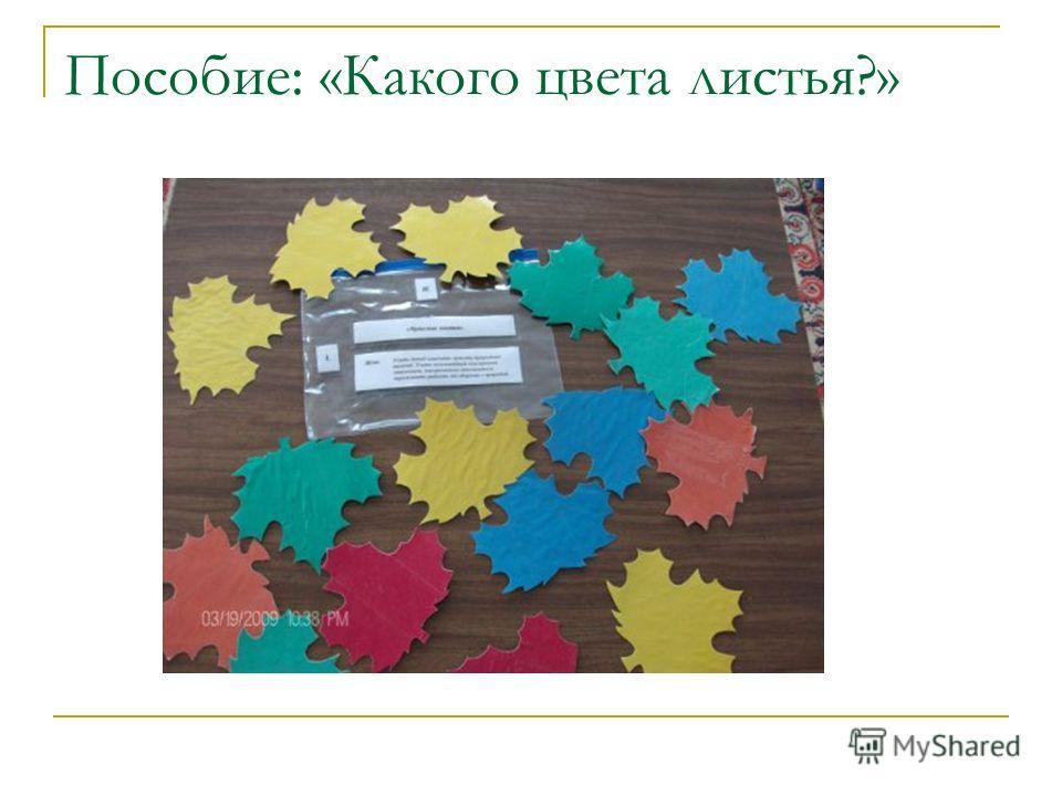 Пособие: «Какого цвета листья?»