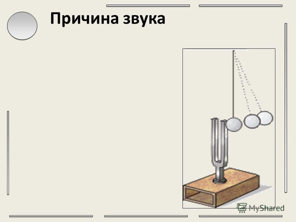 Основные понятия Звук – волнообразно распространяющееся колебательное движение частиц упругой среды (воздуха, воды и т. д.). Колебания- это периодическое отклонение тела от положения равновесия в противоположные стороны. Упругая среда- свойства тел и