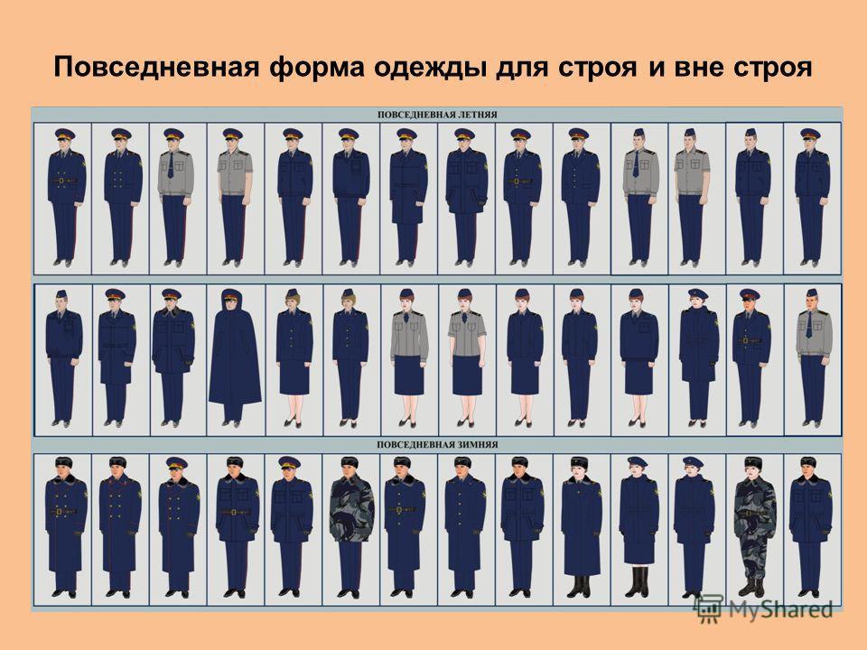 Повседневная форма одежды для строя и вне строя