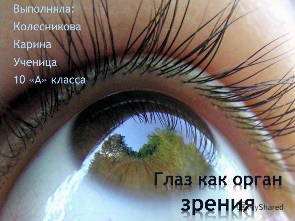 Выполняла: Колесникова Карина Ученица 10 «А» класса
