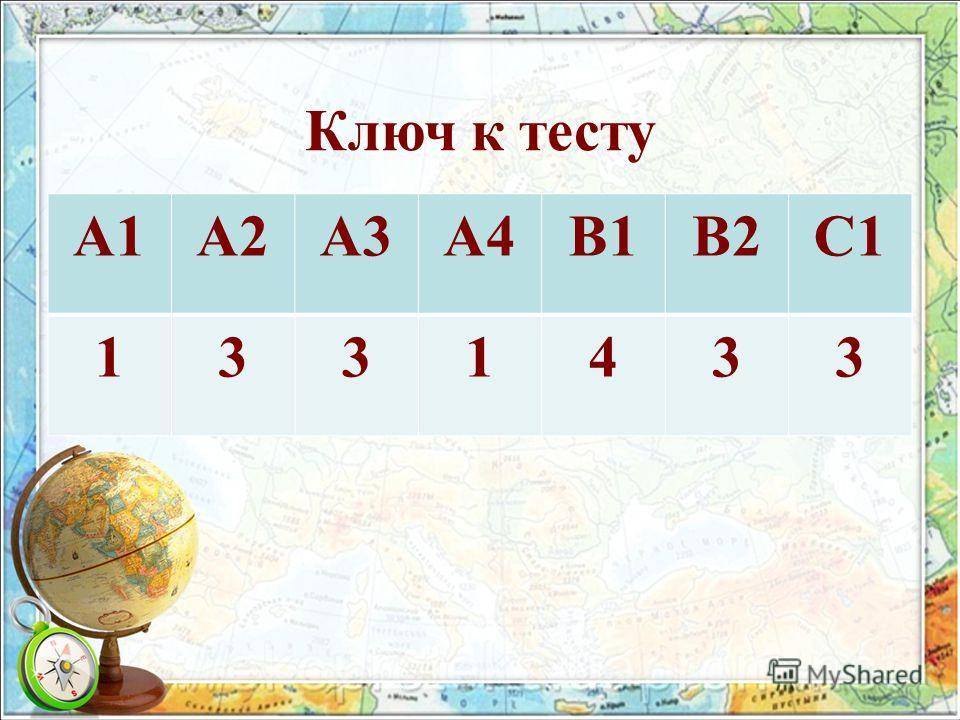 Ключ к тесту А1А2А3А4В1В2С1 1331433
