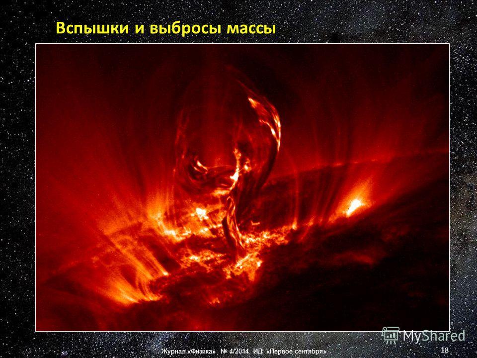 Вспышки и выбросы массы 18 Журнал «Физика» 4/2014. ИД «Первое сентября»