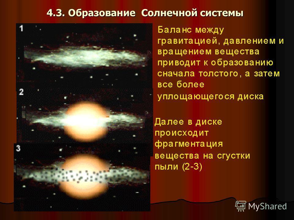 4.3. Образование Солнечной системы
