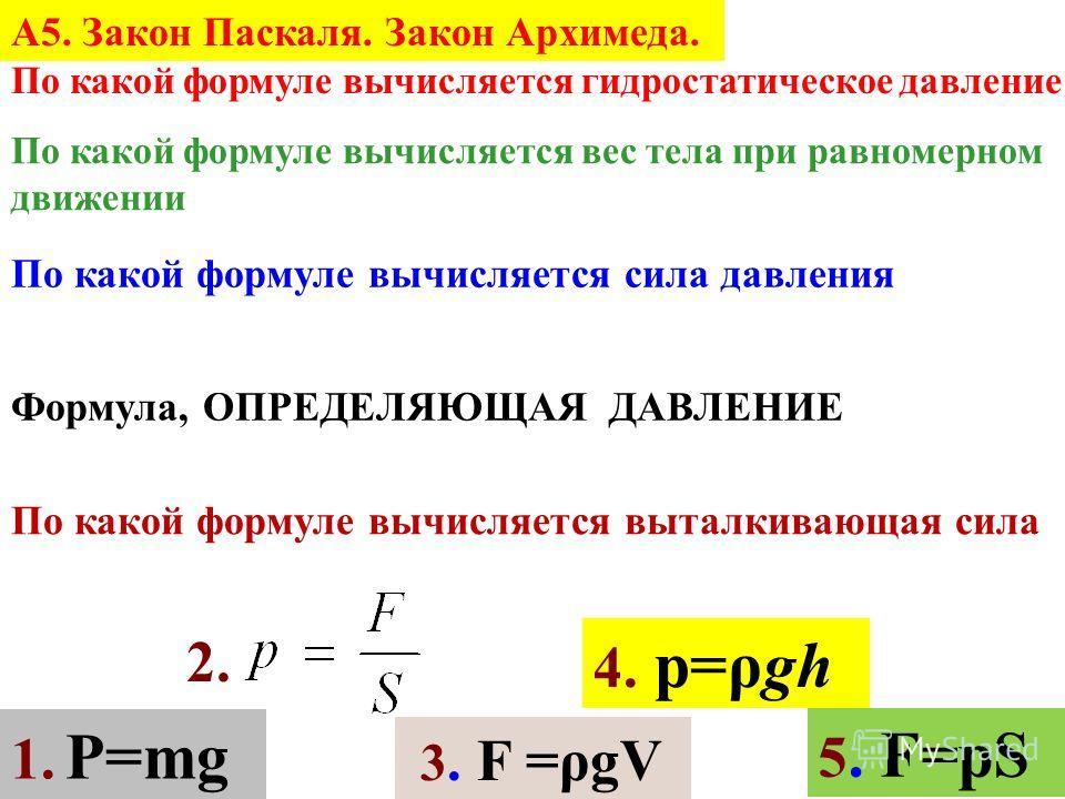 1. Закон Паскаля гласит, что жидкости и газы передают оказываемое на них давление... а) в направлении действующей силы б) на дно сосуда в) в направлении равнодействующей силы г) по всем направлениям 1. Укажите неверное утверждение. а) давление газа с