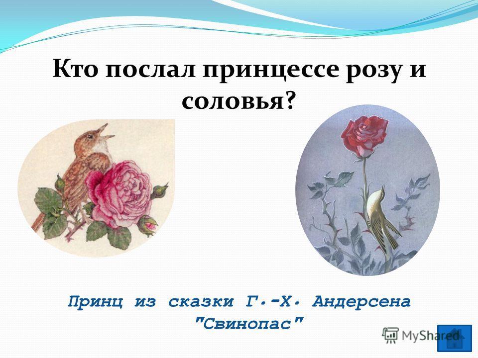 Кто послал принцессе розу и соловья? Принц из сказки Г.-Х. Андерсена Свинопас