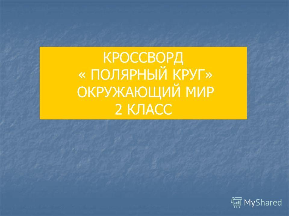 КРОССВОРД « ПОЛЯРНЫЙ КРУГ» ОКРУЖАЮЩИЙ МИР 2 КЛАСС