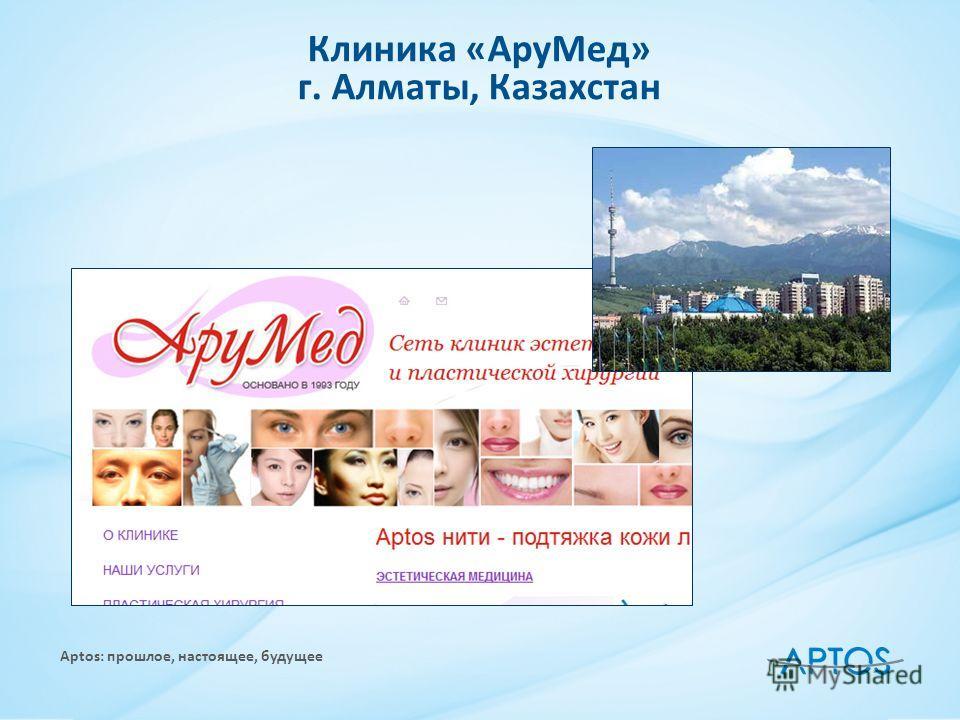 Aptos: прошлое, настоящее, будущее Клиника «Ару Мед» г. Алматы, Казахстан