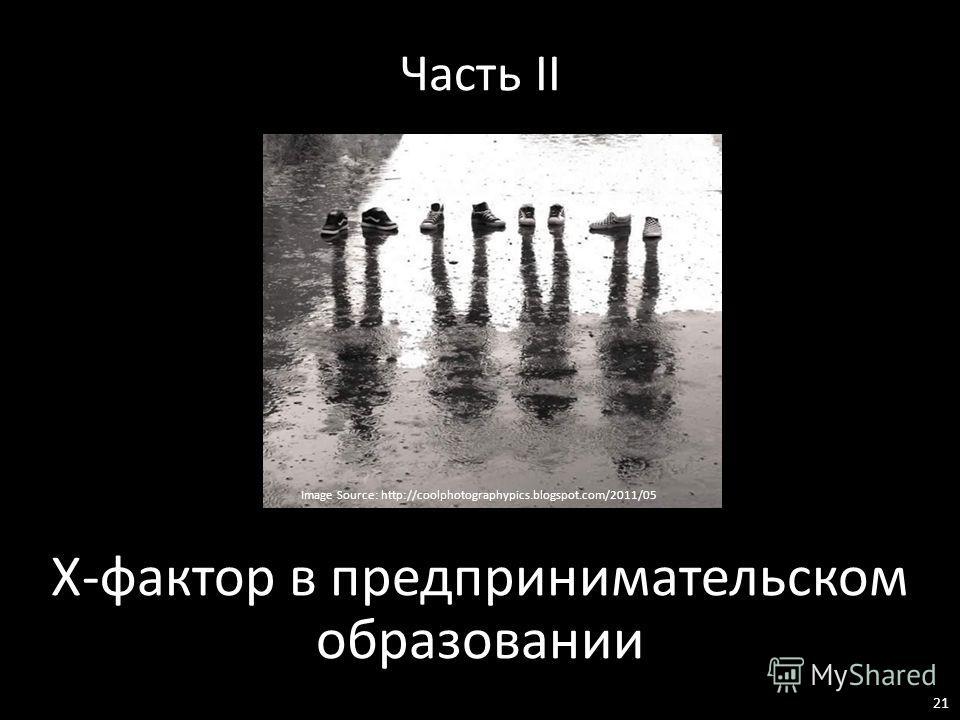 Часть II Х-фактор в предпринимательском образовании Image Source: http://coolphotographypics.blogspot.com/2011/05 21