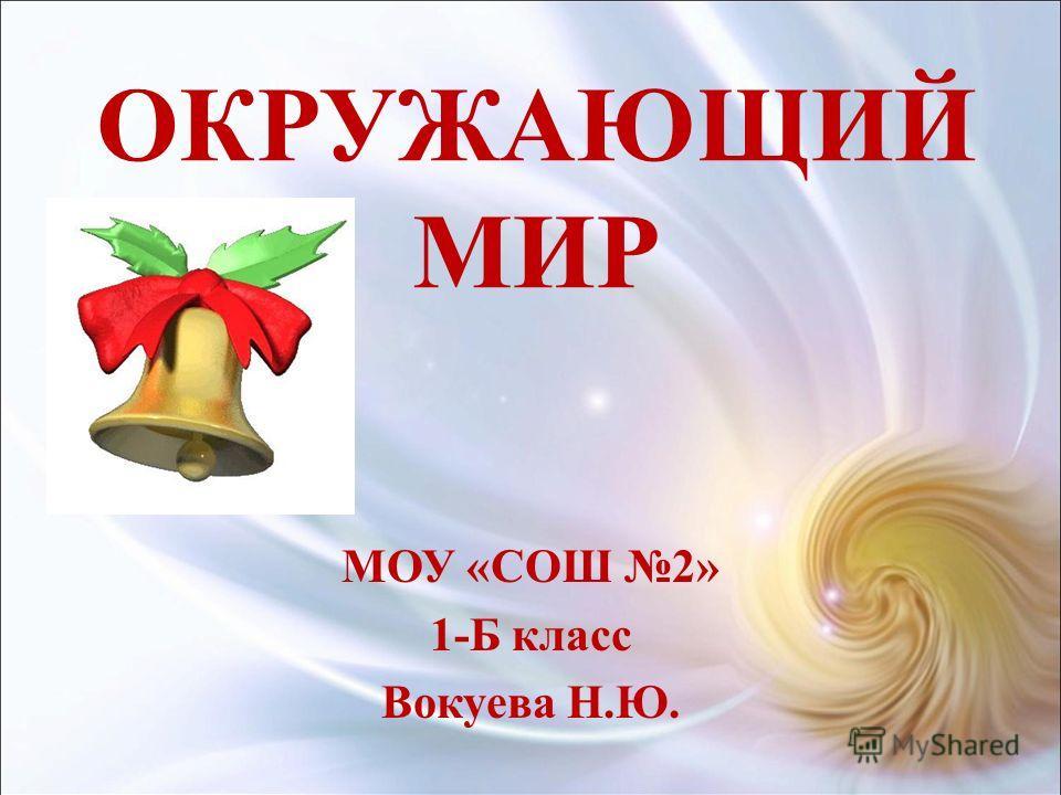 ОКРУЖАЮЩИЙ МИР МОУ «СОШ 2» 1-Б класс Вокуева Н.Ю.