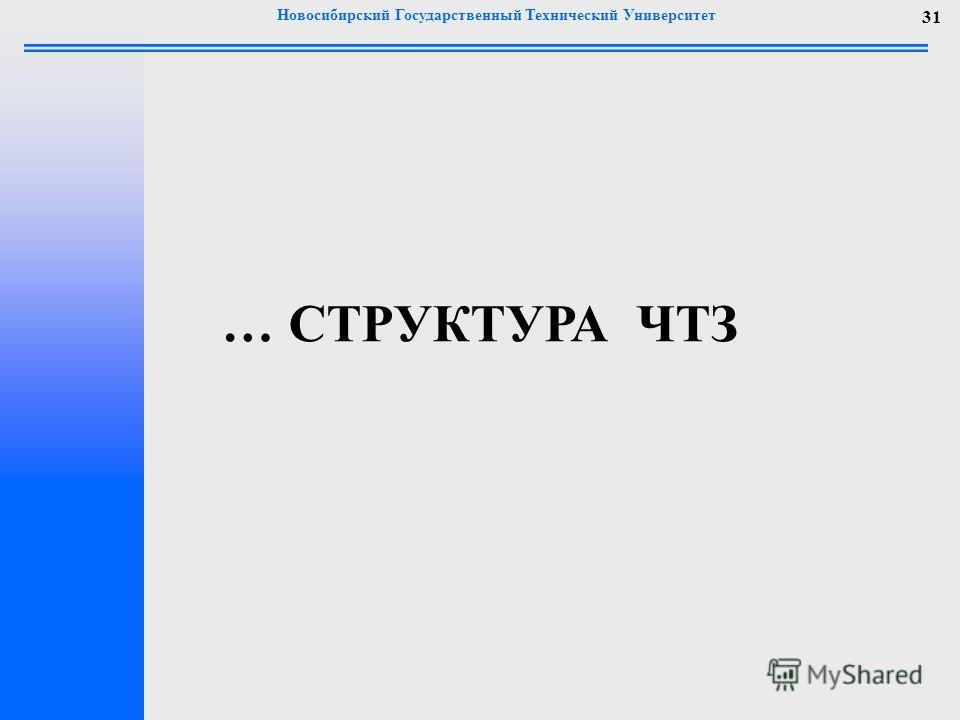 Новосибирский Государственный Технический Университет 31 … СТРУКТУРА ЧТЗ