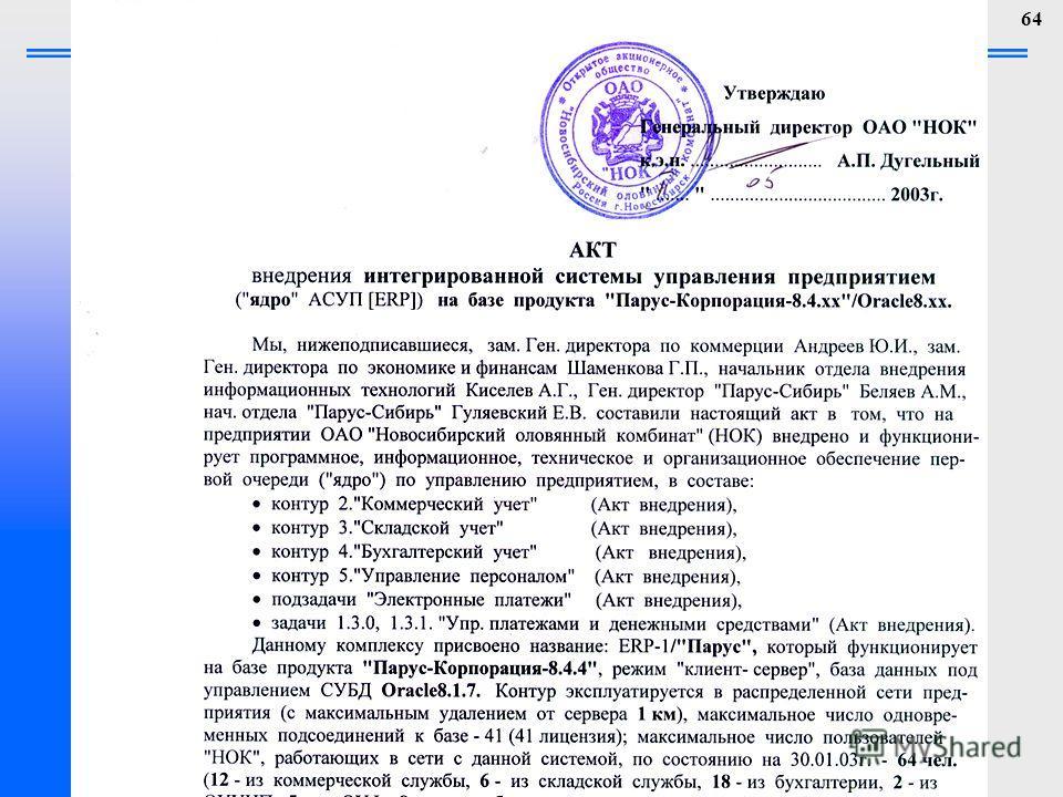 Новосибирский Государственный Технический Университет 64