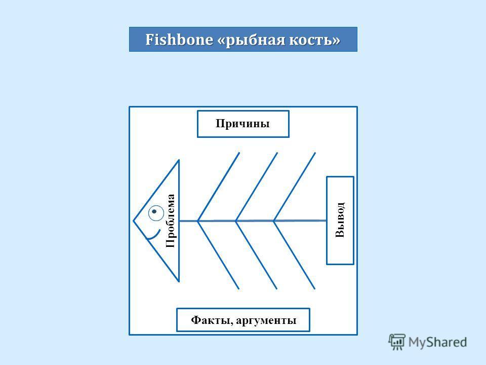 Проблема Вывод Факты, аргументы Причины Fishbone « рыбная кость »
