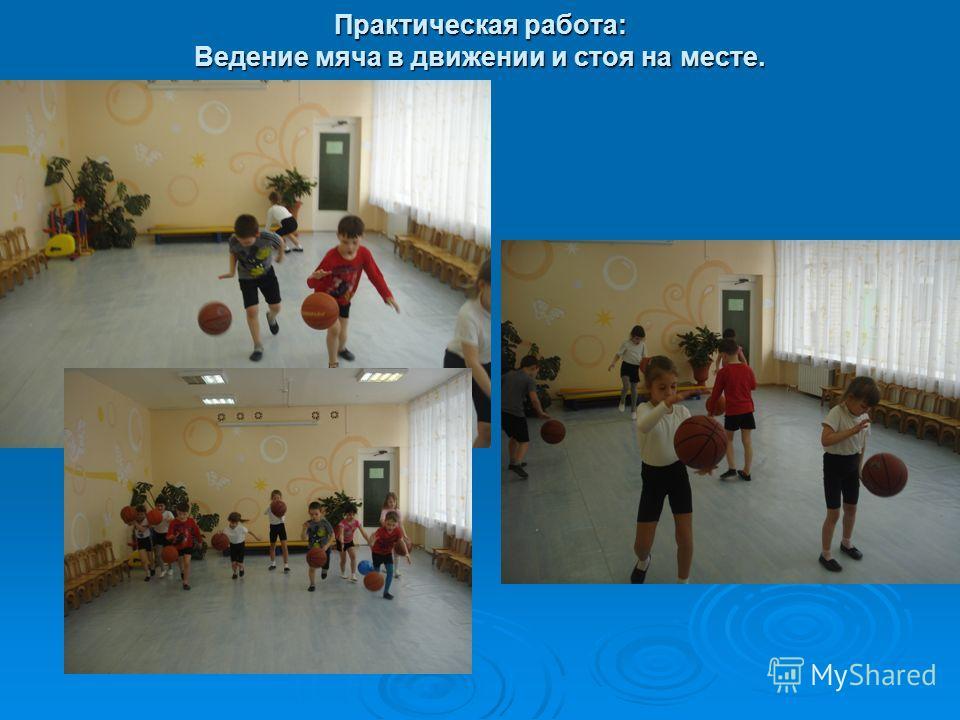 Практическая работа: Ведение мяча в движении и стоя на месте.