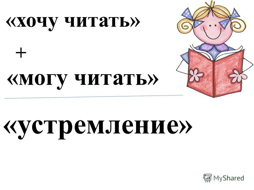 «хочу читать» «могу читать» + «устремление»