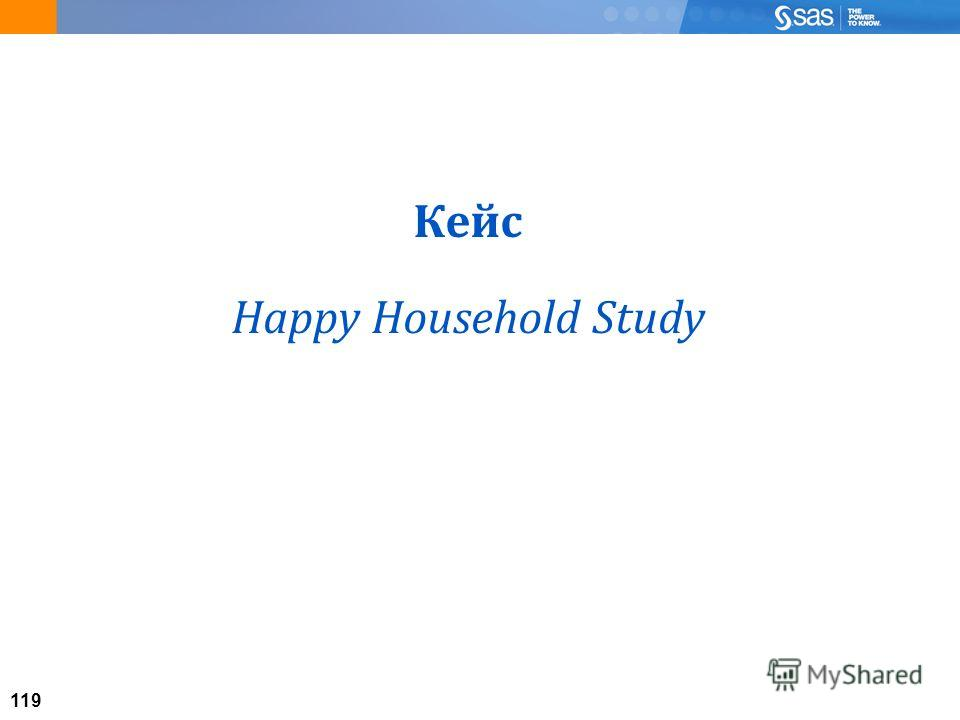 119 Кейс Happy Household Study
