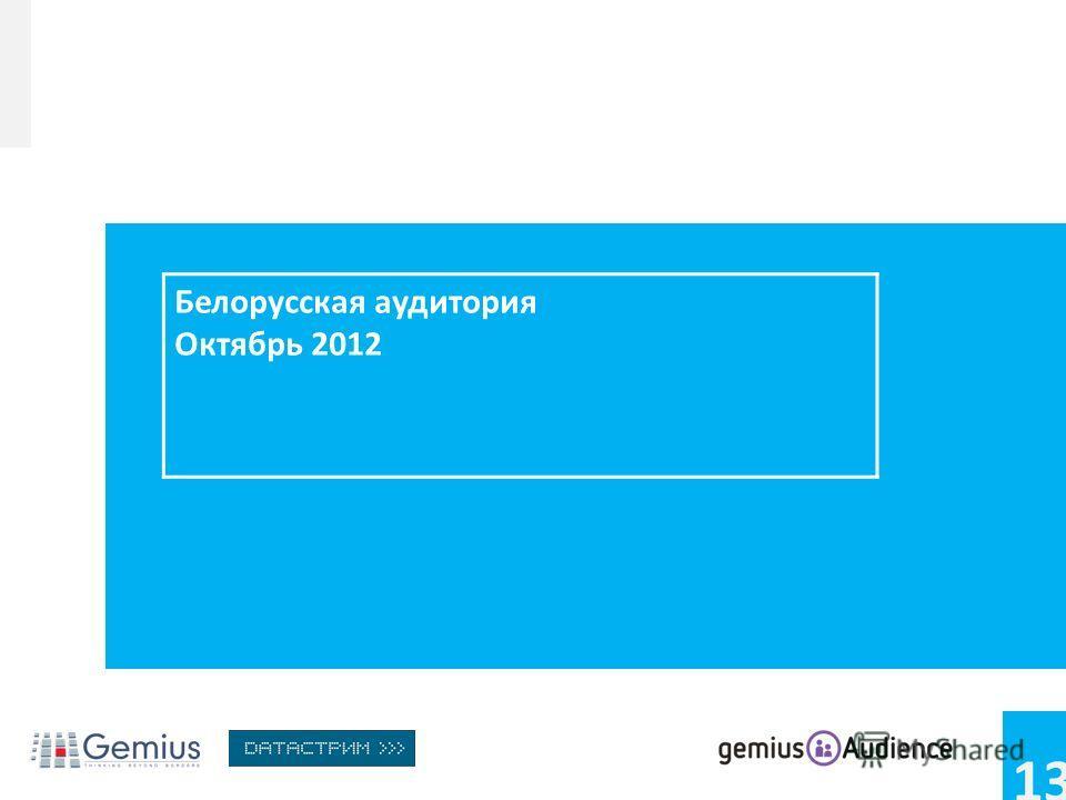 13 Белорусская аудитория Октябрь 2012