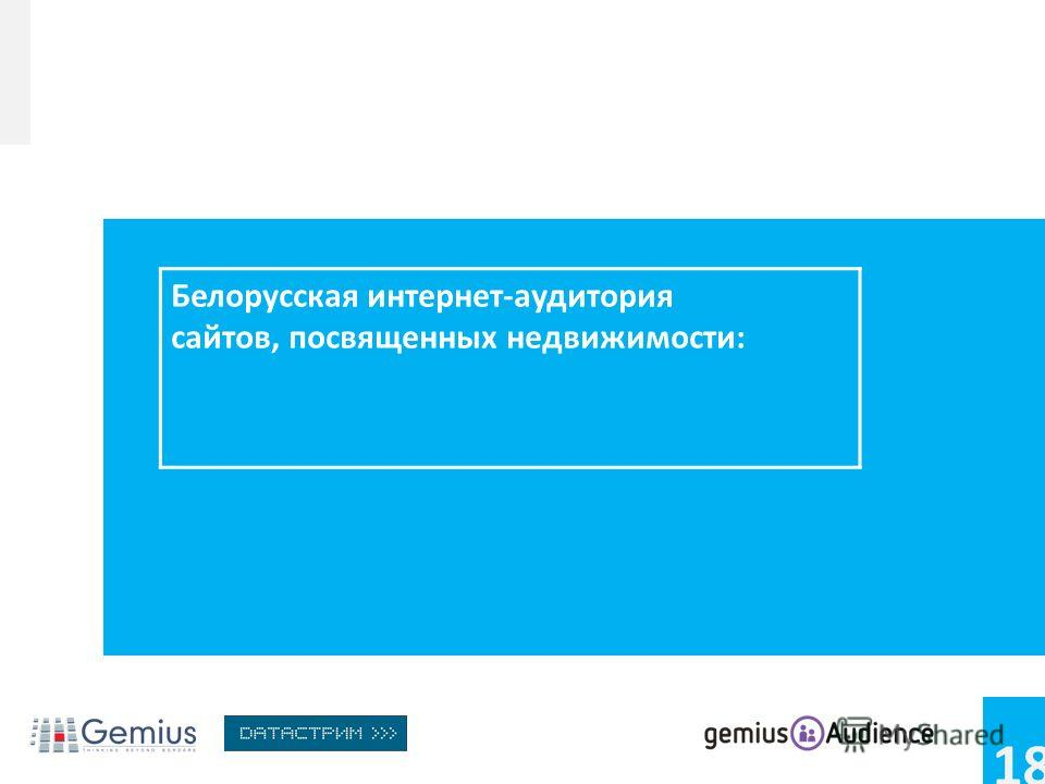 18 Белорусская интернет-аудитория сайтов, посвященных недвижимости: