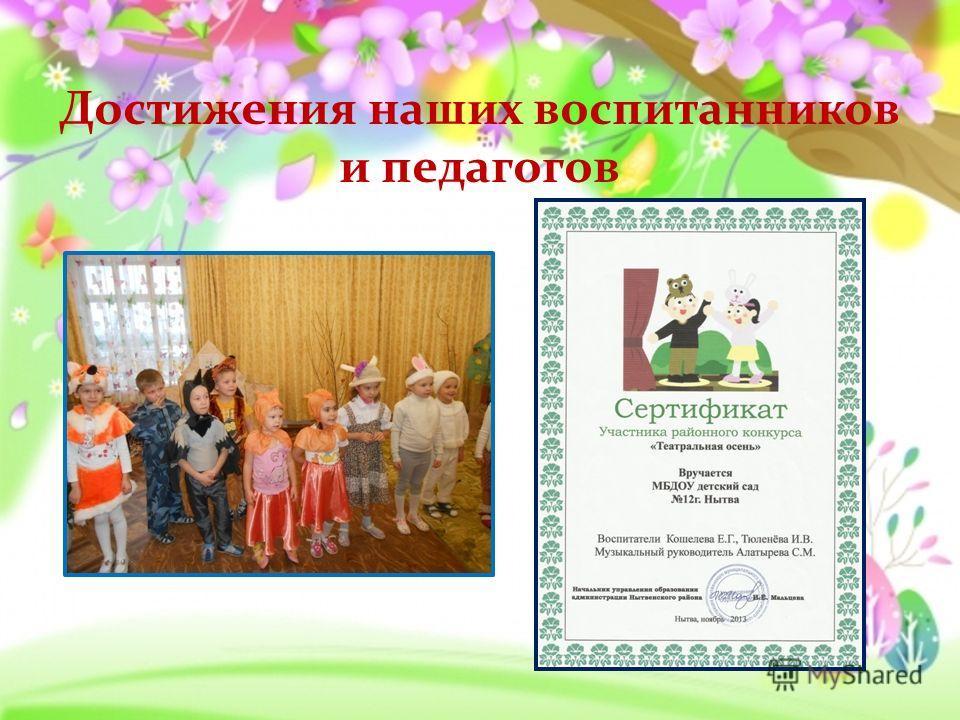 Достижения наших воспитанников и педагогов