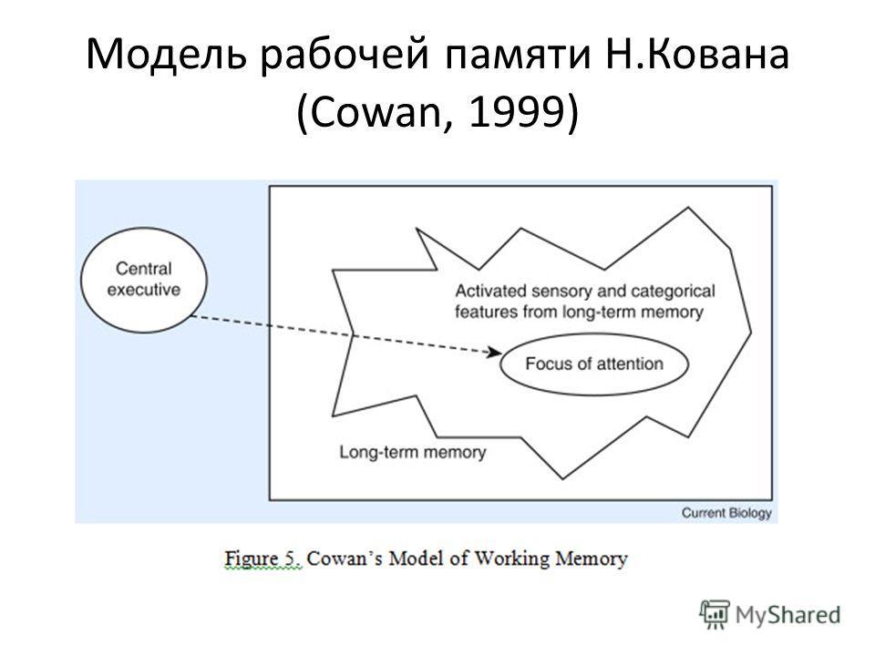 Модель рабочей памяти Н.Кована (Cowan, 1999)