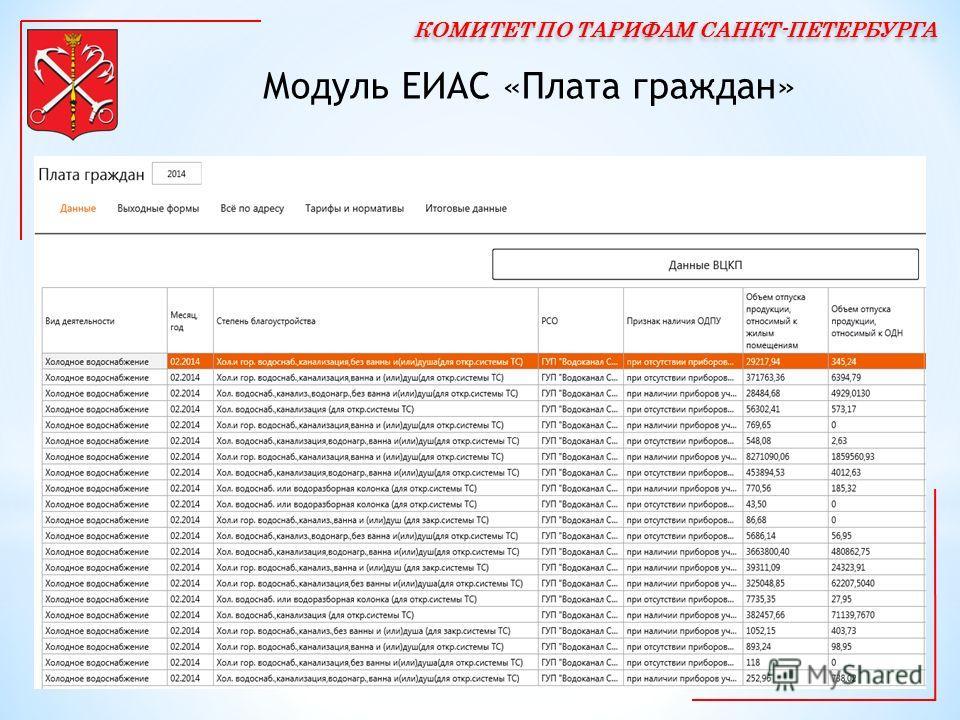 Модуль ЕИАС «Плата граждан»