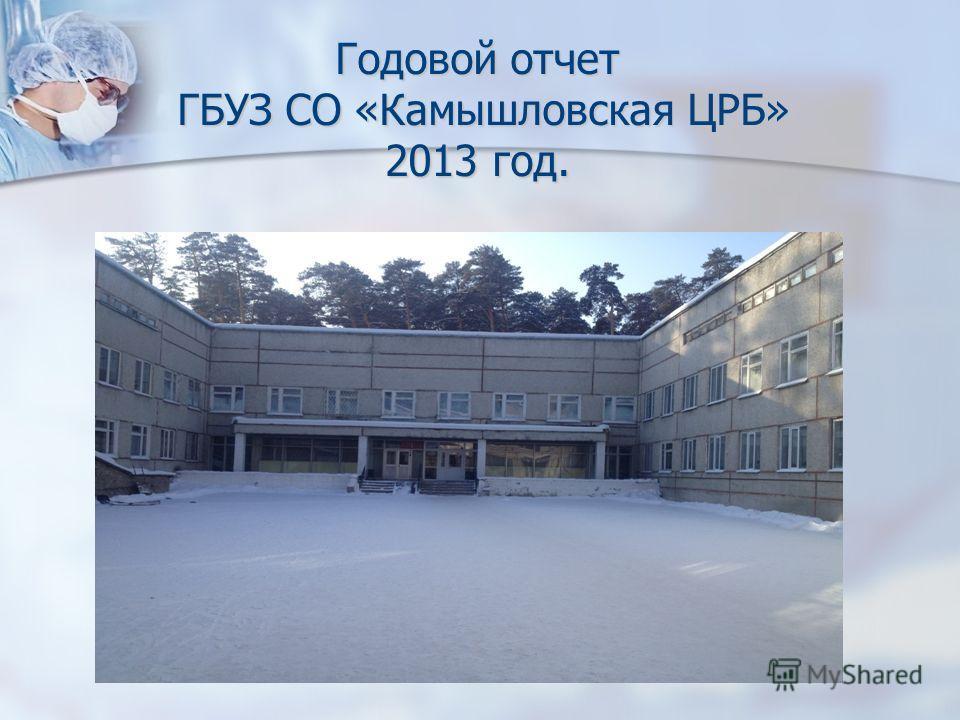 Годовой отчет ГБУЗ СО «Камышловская ЦРБ» 2013 год.