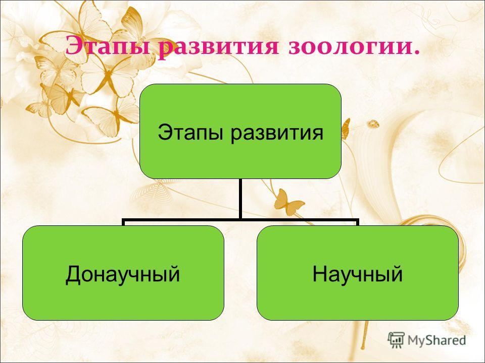 Этапы развития зоологии. Этапы развития Донаучный Научный