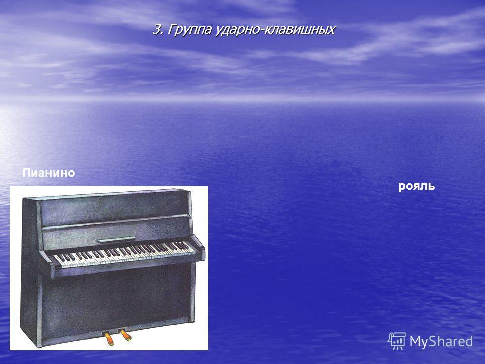 3. Группа ударно-клавишных Пианино рояль