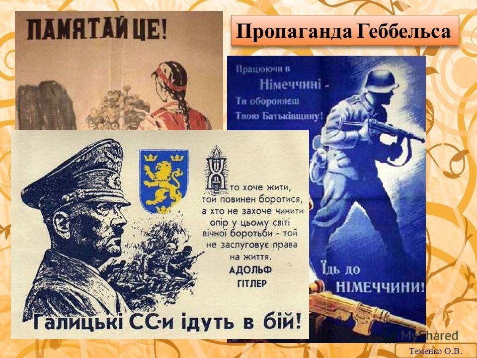 Пропаганда Геббельса Теменко О.В.