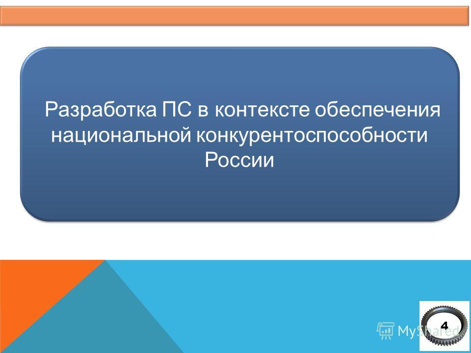 Разработка ПС в контексте обеспечения национальной конкурентоспособности России 4
