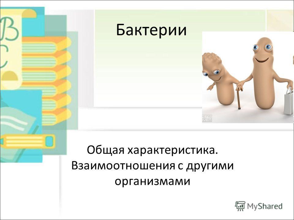 Бактерии Общая характеристика. Взаимоотношения с другими организмами