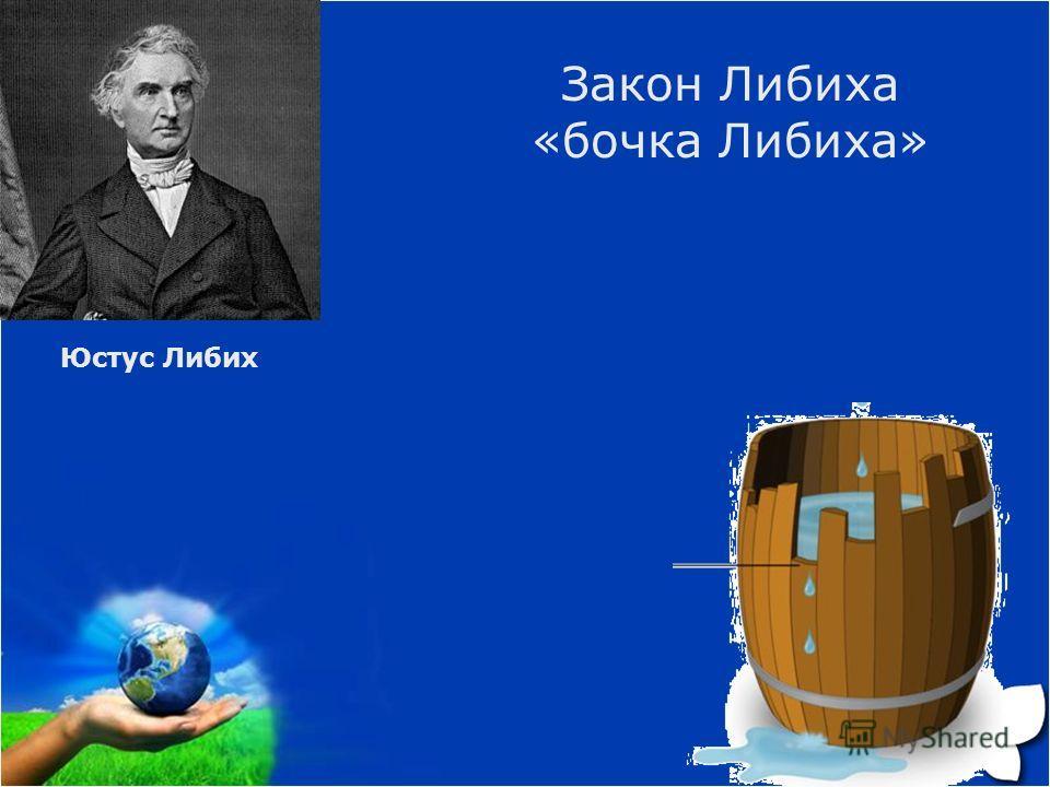 Юстус Либих Закон Либиха «бочка Либиха»