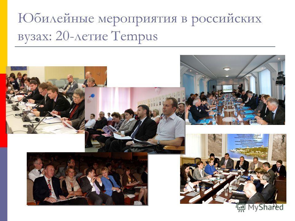 11 Юбилейные мероприятия в российских вузах: 20-летие Tempus