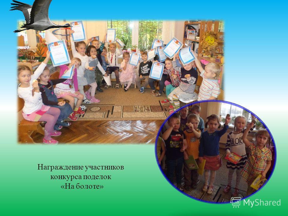 Награждение участников конкурса поделок «На болоте»