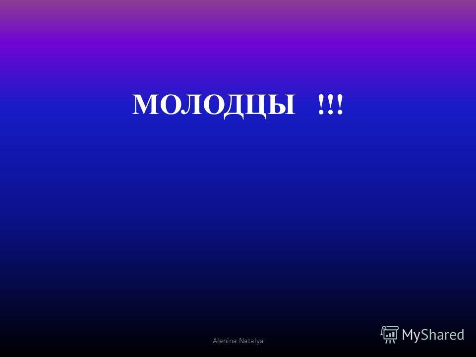 МОЛОДЦЫ !!! Alenina Natalya