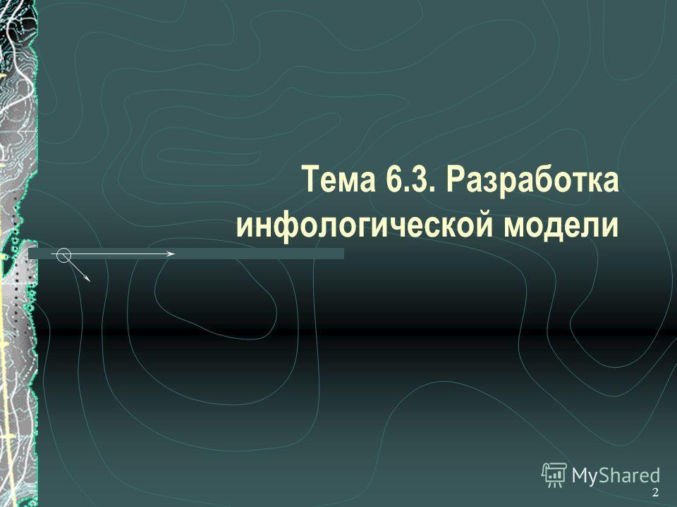 2 Тема 6.3. Разработка инфологической модели