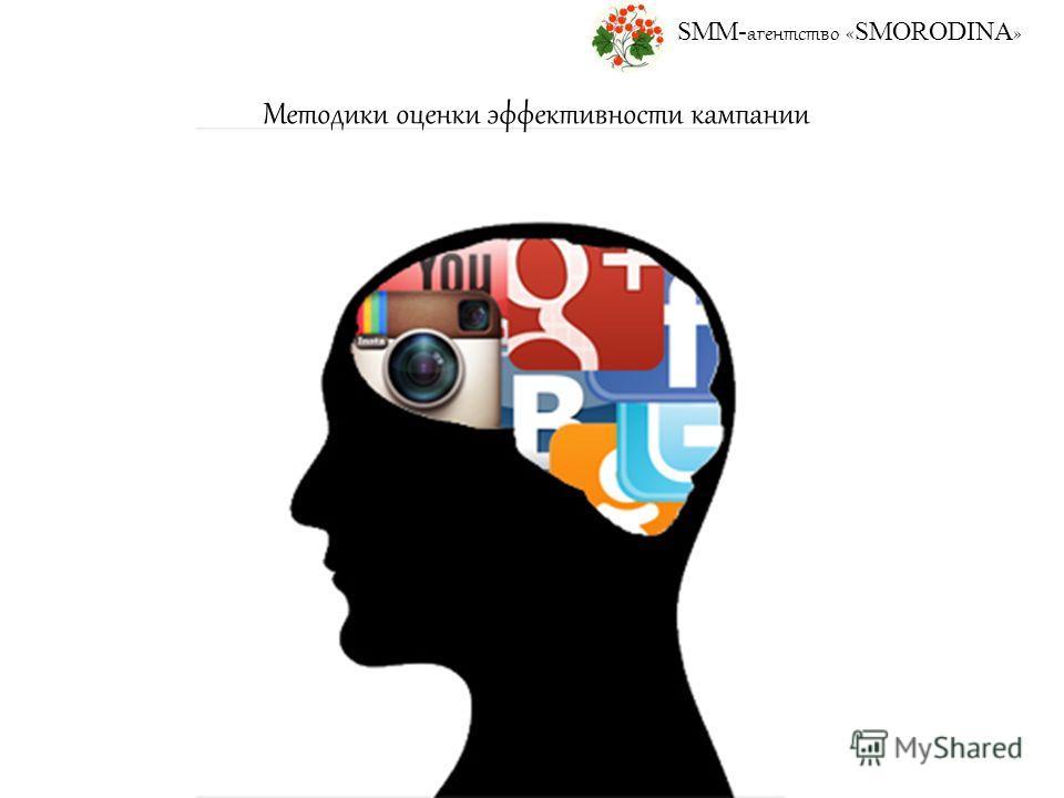 SMM- агентство « SMORODINA » Методики оценки эффективности кампании