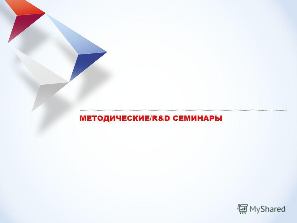 МЕТОДИЧЕСКИЕ/R&D СЕМИНАРЫ