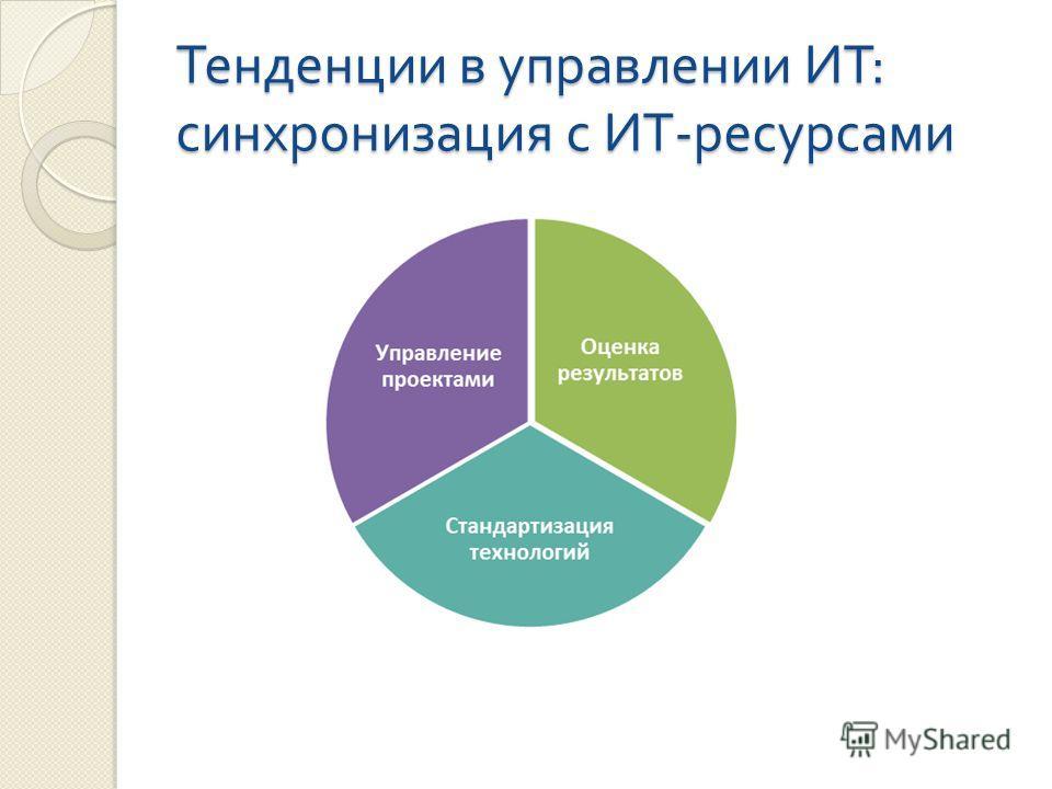 Тенденции в управлении ИТ : синхронизация с ИТ - ресурсами