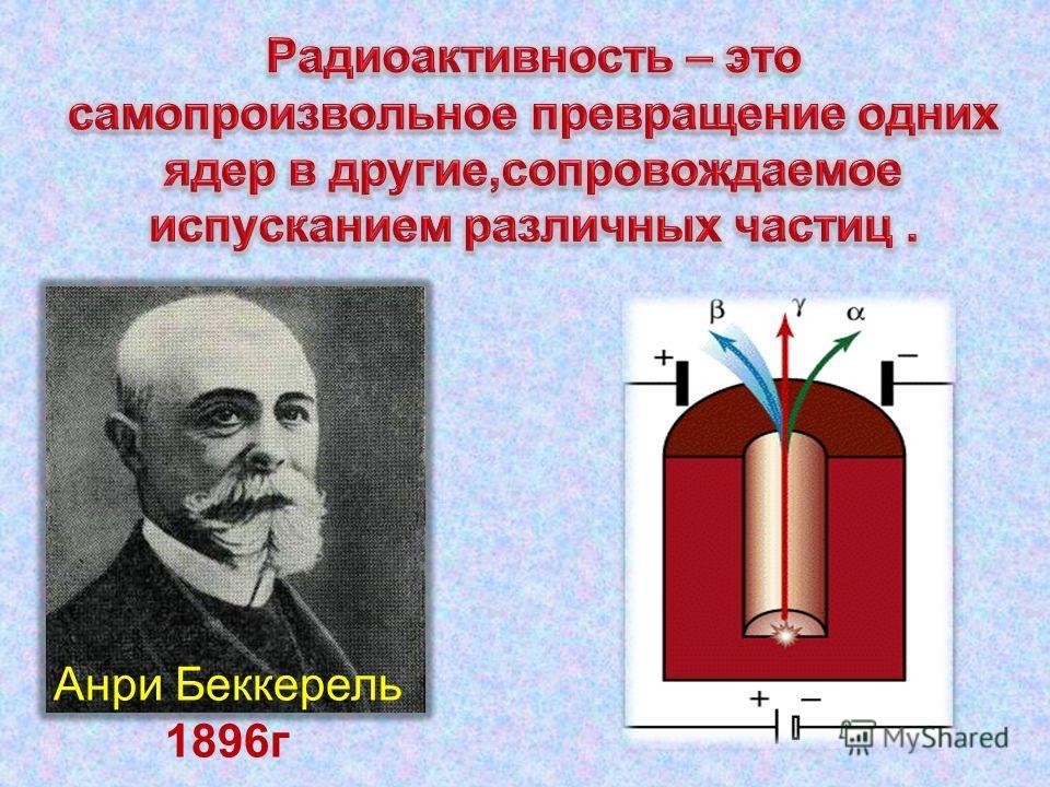 Анри Беккерель 1896 г