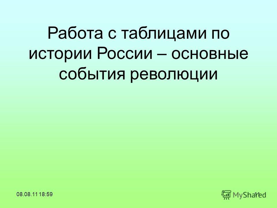 Работа с таблицами по истории России – основные события революции 08.08.11 18:5911