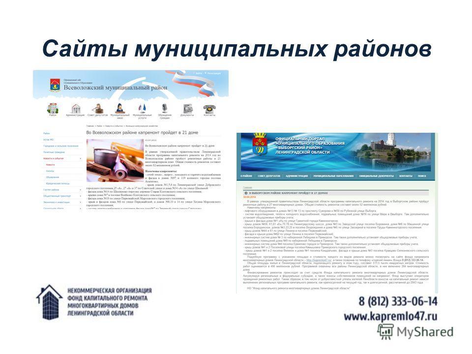 Сайты муниципальных районов