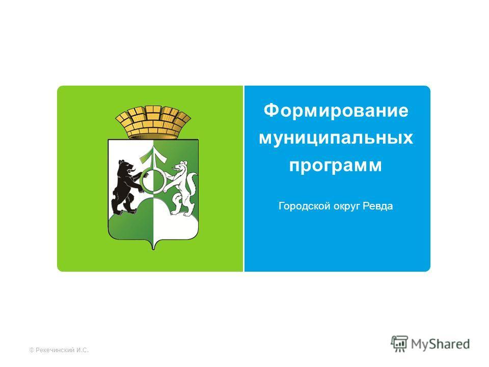 Формирование муниципальных программ Городской округ Ревда © Рекечинский И.С.