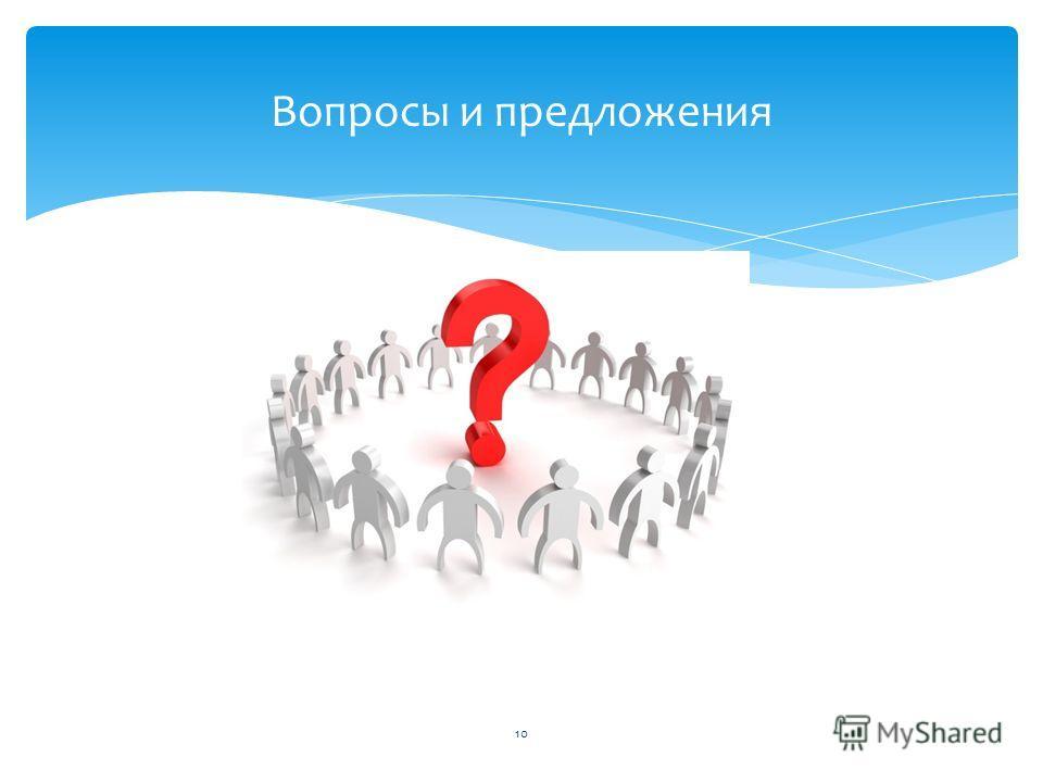 Вопросы и предложения 10