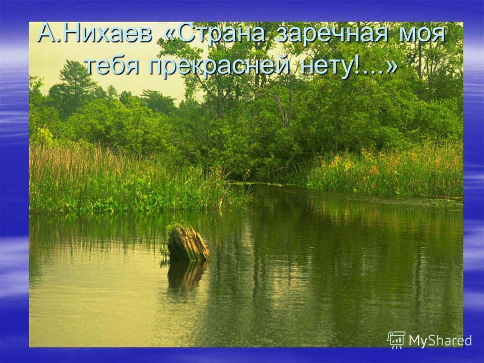 А.Нихаев «Страна заречная моя тебя прекрасней нету!...»