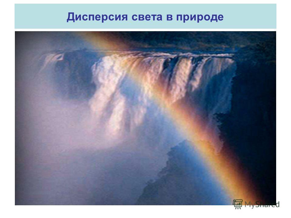 Дисперсия света в природе