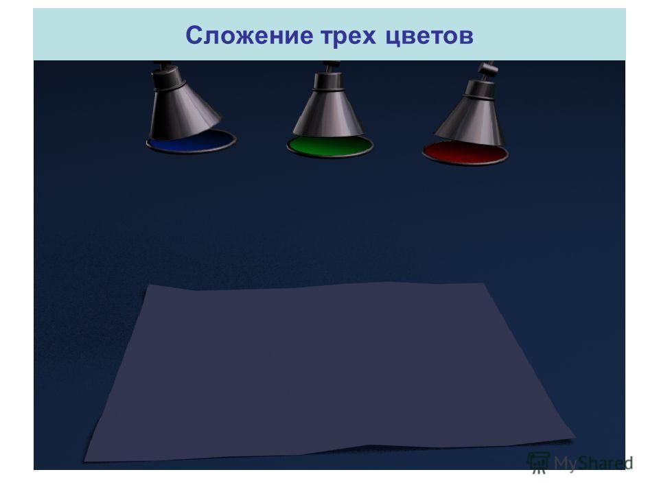 Сложение трех цветов