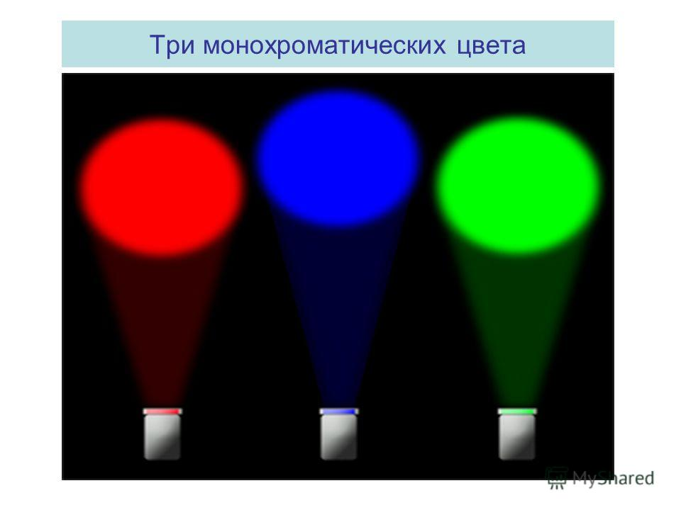 Три монохроматических цвета